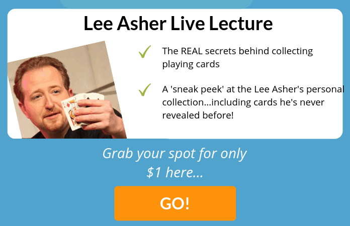 learn lee asher's secrets behind collecting playing cards